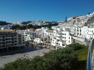 The old city of Albufeira.  Not an inch of wasted space.