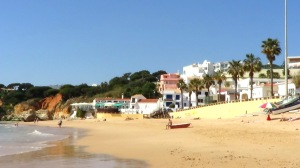 Beach front at Olhos de Agua on the eastern outskirts of Albufeira