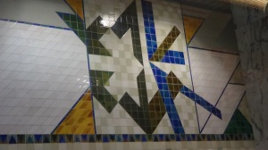 Many of the Metro stops had wonderful art on the walls
